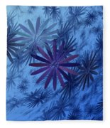 Floating Floral-010 Fleece Blanket