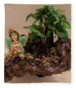 Floating Island Fairy Fleece Blanket