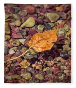 Floating Leaf Fleece Blanket