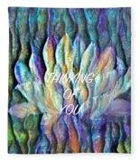 Floating Lotus - Thinking Of You Fleece Blanket