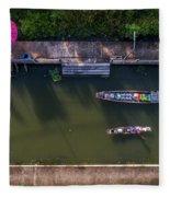 Floating Market Aerial View Fleece Blanket by Pradeep Raja PRINTS