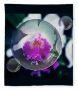 Floating Orchid Fleece Blanket