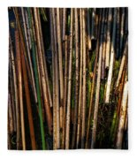 Floating Reeds Fleece Blanket
