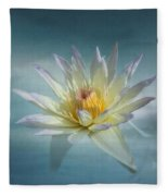 Floating Water Lily Fleece Blanket