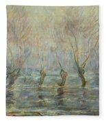 Flood In Giverny Fleece Blanket