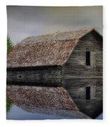 Flooded Barn Fleece Blanket