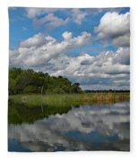 Flooded Low Country Rice Field Fleece Blanket