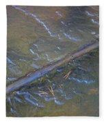 Flooded Rails Fleece Blanket