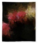 Flora Feathers Fleece Blanket