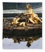 Flora Fountain - Palace Of Versailles Fleece Blanket