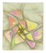Floral 2-19-10-a Fleece Blanket