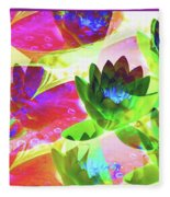 Floral Abstract #3 Fleece Blanket