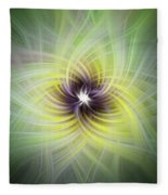 Floral Abstract Square Fleece Blanket