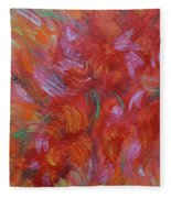 Floral Abstract, Sunshine Bouquet Fleece Blanket