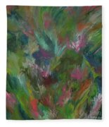 Floral Abstraction Fleece Blanket