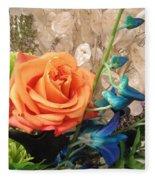 Floral Arrangement Fleece Blanket