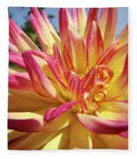 Floral Art Prints Bright Dahlia Flower Canvas Baslee Troutman  Fleece Blanket