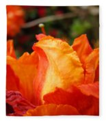 Floral Art Prints Orange Rhodies Rhododendrons Baslee Troutman Fleece Blanket