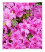 Floral Art Prints Pink Azalea Garden Landscape Baslee Troutman Fleece Blanket