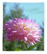 Floral Art Prints Pink White Dahlia Flower Pastel Baslee Troutman Fleece Blanket