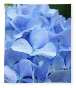 Floral Artwork Blue Hydrangea Flowers Baslee Troutman Fleece Blanket