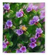 Floral Beehive Fleece Blanket