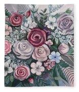 Floral Boom Fleece Blanket