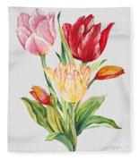 Floral Botanicals-jp3788 Fleece Blanket
