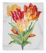 Floral Botanicals-jp3789 Fleece Blanket
