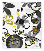Floral Collision Fleece Blanket