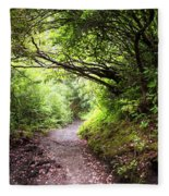 Floral Confetti On The Trail Fleece Blanket