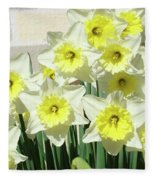 Floral Daffodils Garden Art Prints Floral Bouquet Baslee Troutman Fleece Blanket