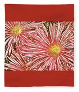 Floral Design No 1 Fleece Blanket
