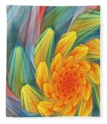 Floral Expressions 1 Fleece Blanket