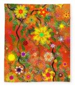 Floral Fantasy 122110 Fleece Blanket