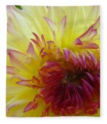 Floral Fine Art Dahlia Flower Yellow Red Prints Baslee Troutman Fleece Blanket