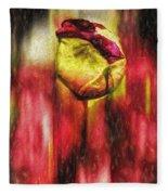 Floral Folds Fleece Blanket
