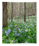 Floral Forest Floor Fleece Blanket