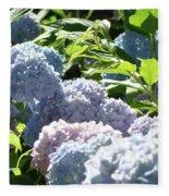 Floral Garden Art Prints Blud Hydrangea Flowers Fleece Blanket