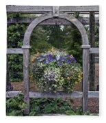 Floral Garden View Fleece Blanket