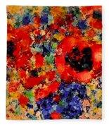 Floral Happiness Fleece Blanket