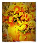 Floral In Ambiance Fleece Blanket