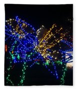 Floral Lights Fleece Blanket