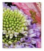Floral Macro Fleece Blanket