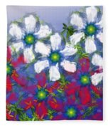 Floral Madness 2 Fleece Blanket