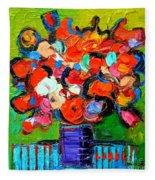 Floral Miniature - Abstract 0315 Fleece Blanket