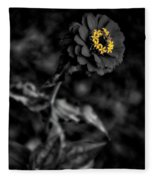 Floral October Zinnia End Of Season Sc 02 Vertical Fleece Blanket