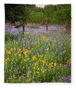 Floral Pasture No. 2 Fleece Blanket