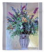 Floral  Piece Fleece Blanket