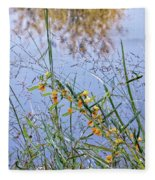 Floral Pond  Fleece Blanket